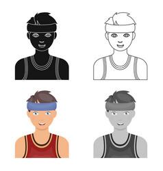 Young basketball playerbasketball single icon in vector