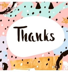 Thanks handwritten unique lettering creative vector