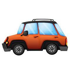 An orange car vector image