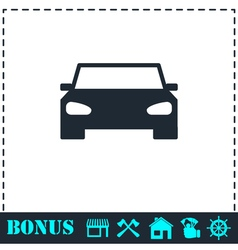 Car icon flat vector image
