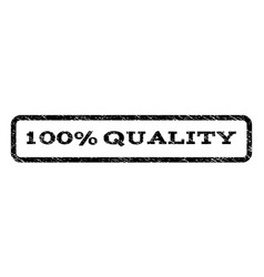100 percent quality watermark stamp vector
