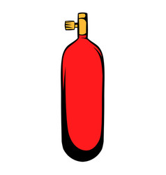 Bottle gas icon cartoon vector