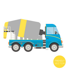 cartoon transport mixer truck vector image