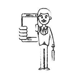 businessman using phone icon image vector image