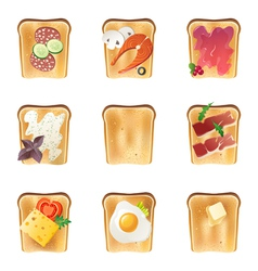 Toasts set vector