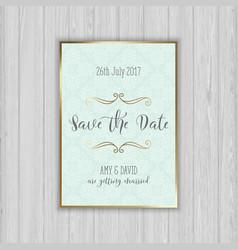 Decorative save the date invitation vector