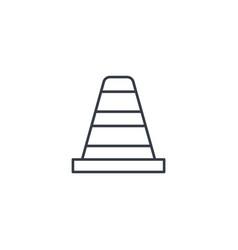 Traffic cone thin line icon linear symbol vector