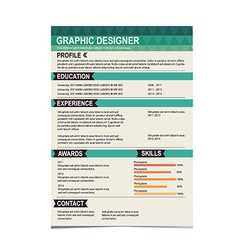 Resume template cv creative background vector