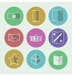 Flat icons for online store vector
