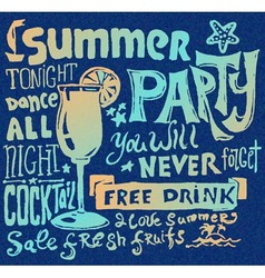Summer poster Typography background vector image