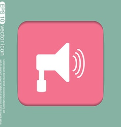 Loudspeaker volume icon sound icon vector