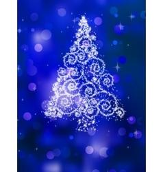 Christmas tree on golden EPS 8 vector image