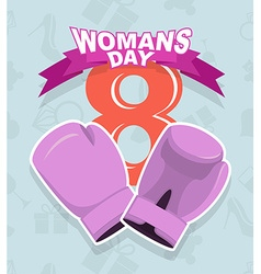 8 March International Womens Day Pink boxing vector image vector image