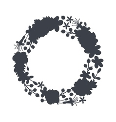 Circular floral wreaths with leaves central vector