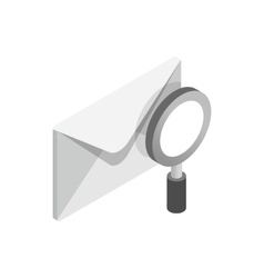 Search email icon isometric 3d style vector image