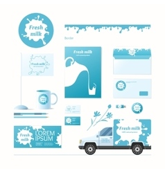 Milk corporate identity vector