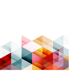 abstract colorful geometric modern template vector image vector image