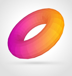 abstract donuts shape vector image