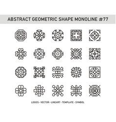 Abstract geometric shape monoline 77 vector
