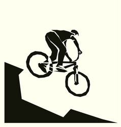 bicycle mtb racer extreme vector image