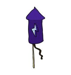 Comic cartoon firework rocket vector