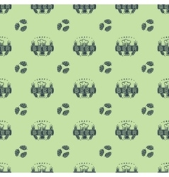 Craft beer bages seamless pattern vector