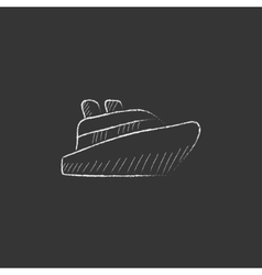 Cruise ship drawn in chalk icon vector