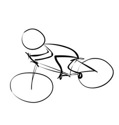 cyclist in traffic icon vector image vector image