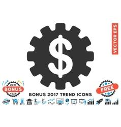 Development cost flat icon with 2017 bonus trend vector
