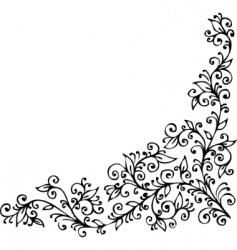 floral vignette cdxxiv vector image vector image