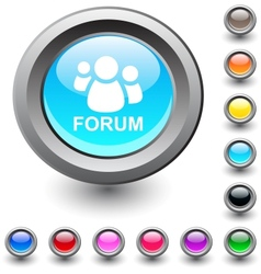 Forum round button vector image vector image