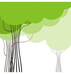 Green Acacia Background vector image vector image