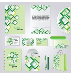 Green corporate style vector