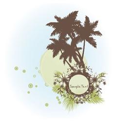 grunge summer frame vector image