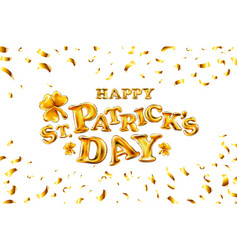 happy st patricks day on white background vector image vector image