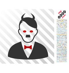 Hitler devil flat icon with bonus vector