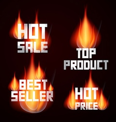 Hot sale - price - top product - best seller vector