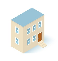 Isometric House Building Isolated on white vector image vector image