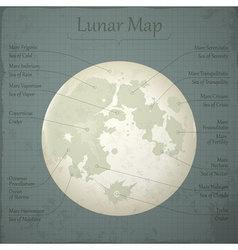 Lunar map vector