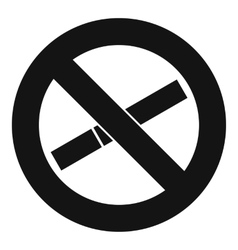 No smoking sign icon simple style vector image vector image
