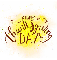 Phrase happy thanksgiving day vector