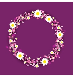 Purple round flowers vector