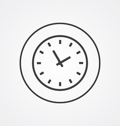 Time outline symbol dark on white background logo vector