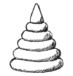 toy colored pyramid vector image