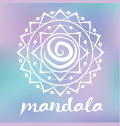 white mandala vector image vector image