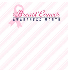 world breast cancer day collection vector image