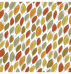 Autumn fallen leaves pattern element for holiday vector