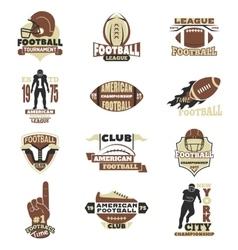 American football sign set vector image