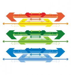 arrow banners vector image