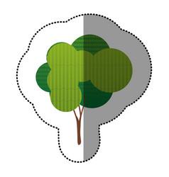 color stamp creative tree icon vector image